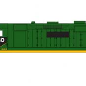 Conrail Locomotive GP35 Ex RDG Green Scheme Decals