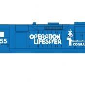 Conrail Locomotive GP35 Operation Life Saver Decals