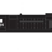 Conrail Locomotive GP35 exPC Patched Logo Decals