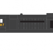 Conrail Locomotive GP35 exPC Patched Logo Yellow Numbers Decals