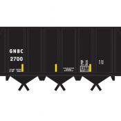 Farmrail (GNBC) Open Hopper Ortner Black Decals