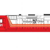 Indiana Ohio Locomotive GP35 Red White Scheme Decals