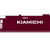 Kiamichi Locomotive GP35 Decals