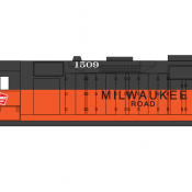 Milwaukee Road Locomotive GP35 Decals