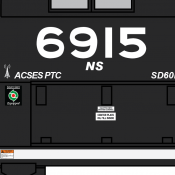 Norfolk Southern Modern Cab Labels Decals
