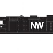 Norfolk Western Locomotive GP35 NW Letters Decals