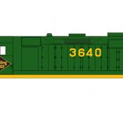 Reading Locomotive GP35 Green Scheme Decals