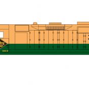 Reading Locomotive GP35 Yellow Green Scheme Decals