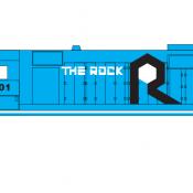 Rock Island Locomotive GP35 Blue White Scheme Decals