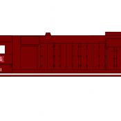 Rock Island Locomotive GP35 Dark Red Scheme Decals