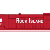 Rock Island Locomotive GP35 Medium Block Scheme Decals