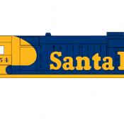 Santa Fe Locomotive GP35 Yellow Cab Decals